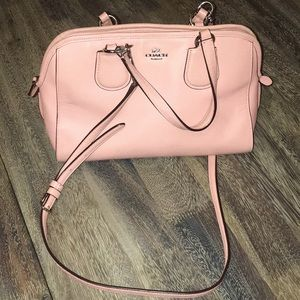 Coach- Dusty Pink Bag- Okay Condition